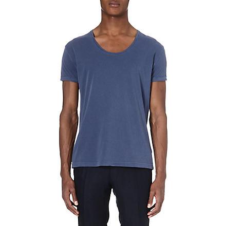 TIGER OF SWEDEN Jeet scoop neck t-shirt (Navy