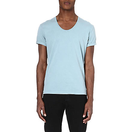 TIGER OF SWEDEN Jeet scoop neck t-shirt (Blue