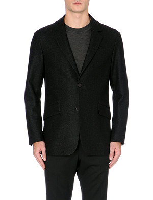 TIGER OF SWEDEN Wool-blend notched blazer jacket