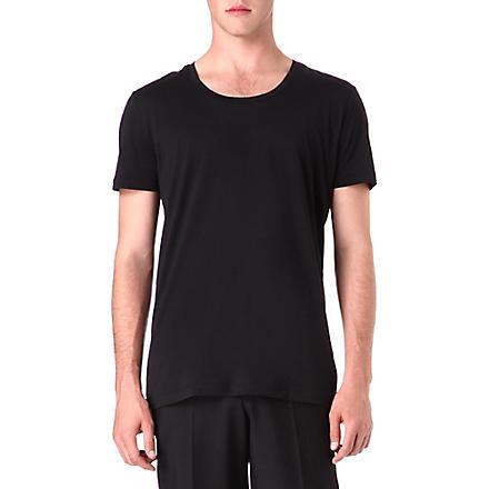 TIGER OF SWEDEN Plain cotton t-shirt (Black