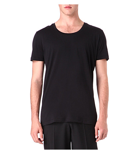 TIGER OF SWEDEN Plain cotton t-shirt (Black