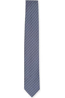 TIGER OF SWEDEN Check pattern woven silk tie