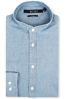TIGER OF SWEDEN Navon slim-fit single-cuff granddad shirt