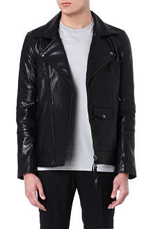 TIGER OF SWEDEN JEANS Leather biker jacket