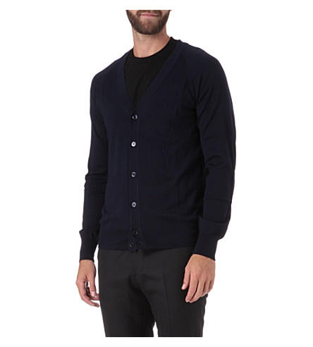 TIGER OF SWEDEN Basic knitted cardigan (Navy