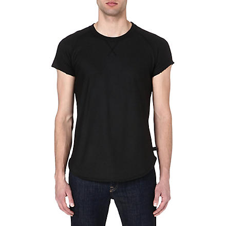 TIGER OF SWEDEN JEANS Scratch short-sleeved sweatshirt (Black
