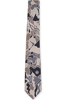 TIGER OF SWEDEN Camo silk tie