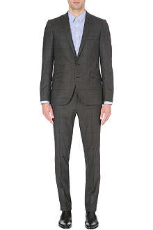 TIGER OF SWEDEN Nedvin checked stretch-wool suit