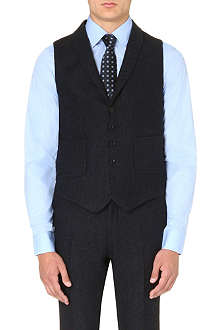 TIGER OF SWEDEN Hanes flecked wool waistcoat