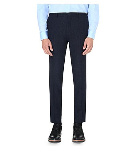 TIGER OF SWEDEN Herris flecked wool trousers (Blue