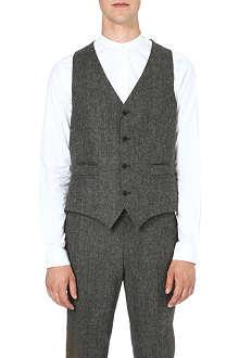TIGER OF SWEDEN Nedvin flannel waistcoat