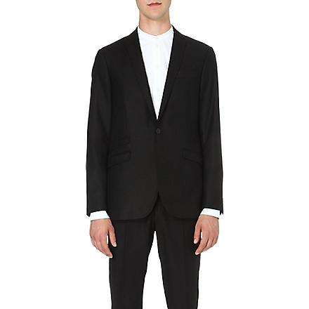 TIGER OF SWEDEN Single-breasted wool-blend jacket (Black