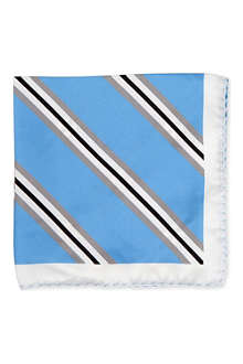 TIGER OF SWEDEN Stripe silk pocket square