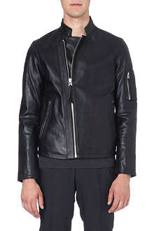 TIGER OF SWEDEN JEANS Rikki zip-detail leather jacket