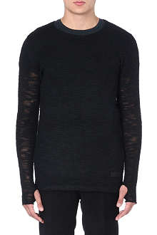 TIGER OF SWEDEN JEANS Sheer knitted jumper