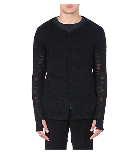 TIGER OF SWEDEN JEANS Sheer knitted cardigan (Black