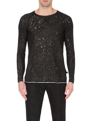 TIGER OF SWEDEN JEANS Space-dye knitted sweatshirt