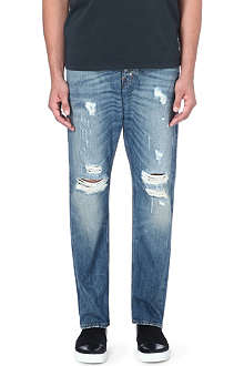 TIGER OF SWEDEN JEANS Distressed wide leg jeans