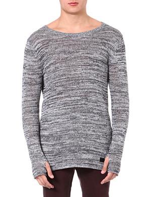 TIGER OF SWEDEN JEANS Flecked knitted jumper