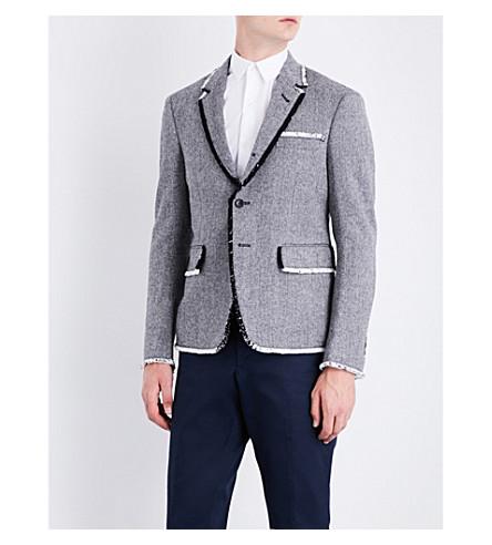 THOM BROWNE Herringbone wool blazer (Blk/wht