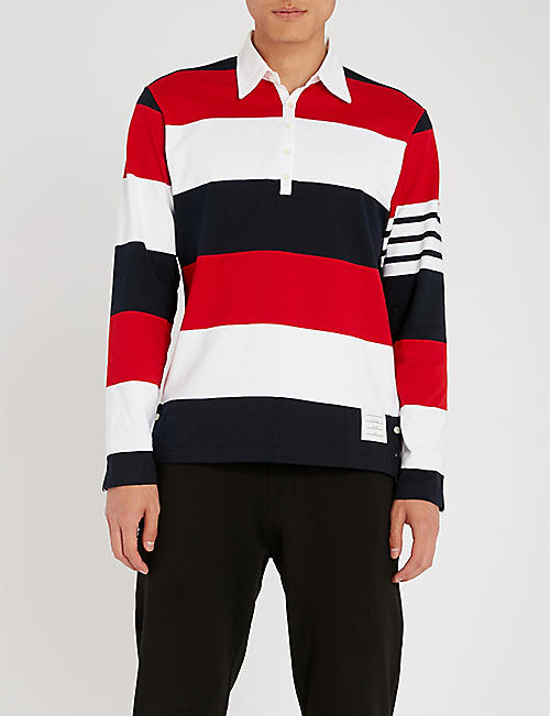 fitted polo shirts polo striped sweatshirt