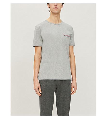 THOM BROWNE Patch pocket cotton T-shirt