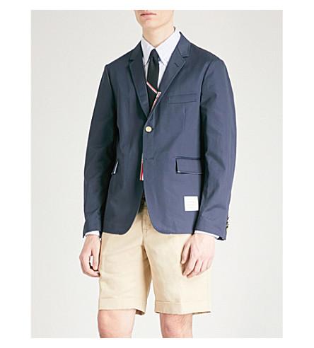 THOM BROWNE Regular-fit cotton-twill blazer (Navy