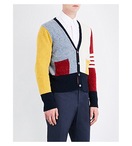 THOM BROWNE Funmix wool and mohair-blend cardigan (Seasonal+multi
