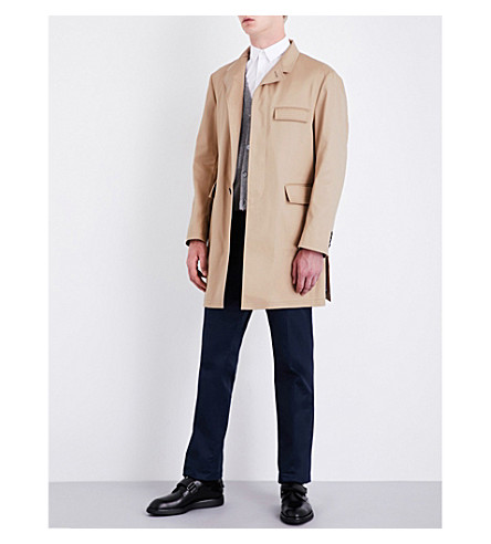 THOM BROWNE Chesterfield cotton-twill coat (Khaki