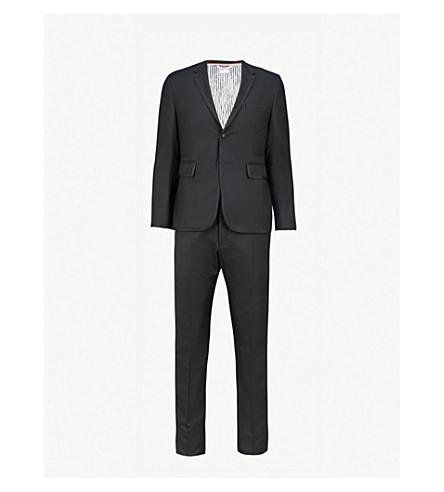 THOM BROWNE Grosgrain-tab regular-fit wool tuxedo (Black