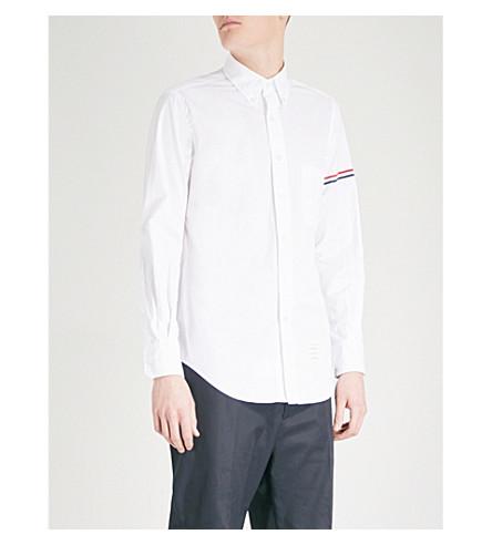 THOM BROWNE Logo regular-fit cotton shirt (White