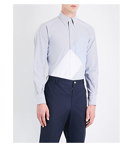 THOM BROWNE Directional cotton shirt (Navy
