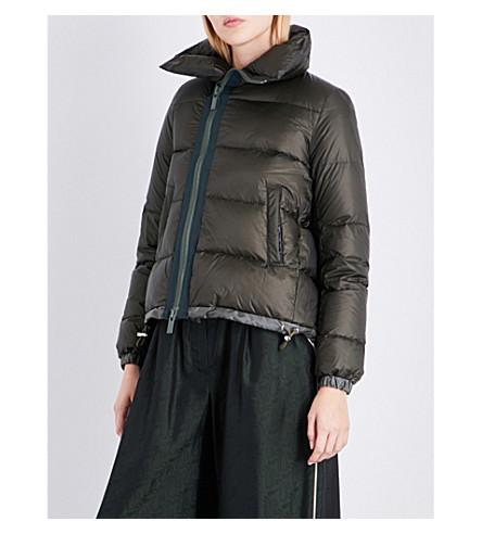 SACAI Padded shell puffer jacket (Khaki