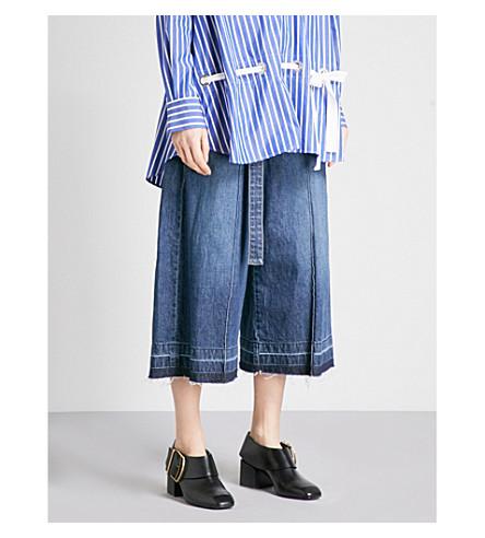 SACAI Wide-leg high-rise jeans (Blue