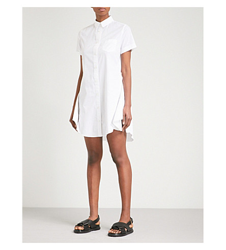 SACAI Side-split woven shirt dress (White