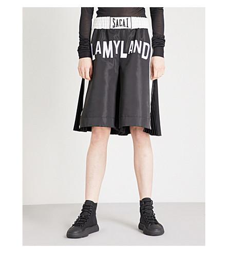 SACAI Lamyland shell boxing shorts (Black/white