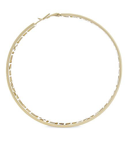 VETEMENTS Logo single hoop earring (Gold