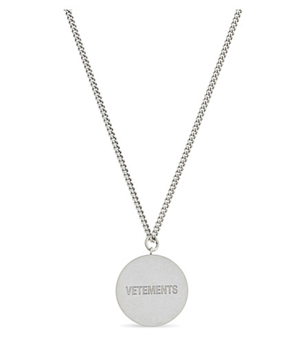 VETEMENTS Stoner necklace (Silver