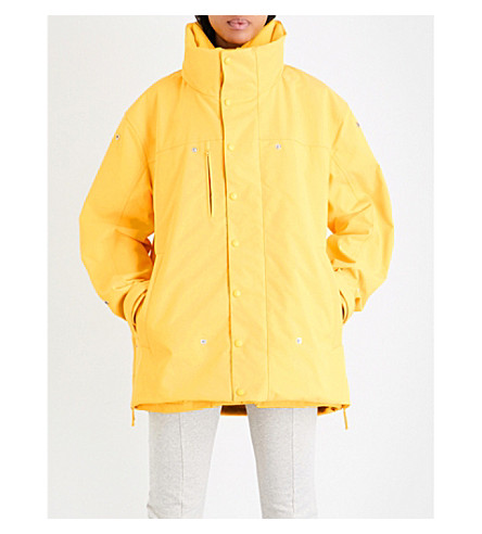 VETEMENTS Angela oversized shell jacket (Yellow