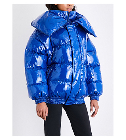 VETEMENTS Miss Webcam shell puffer jacket (Blue