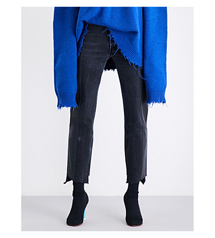 VETEMENTS Vetements x Levi's straight high-rise jeans (Black