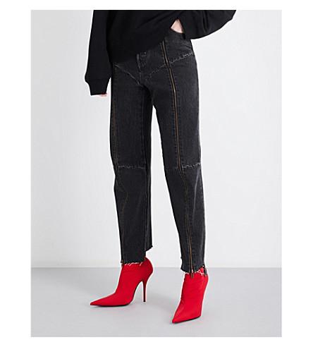 VETEMENTS Vetements x Levi's biker high-rise jeans (Black