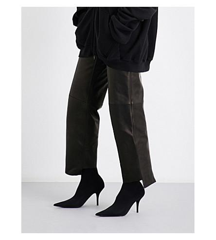 VETEMENTS Biker leather trousers (Black