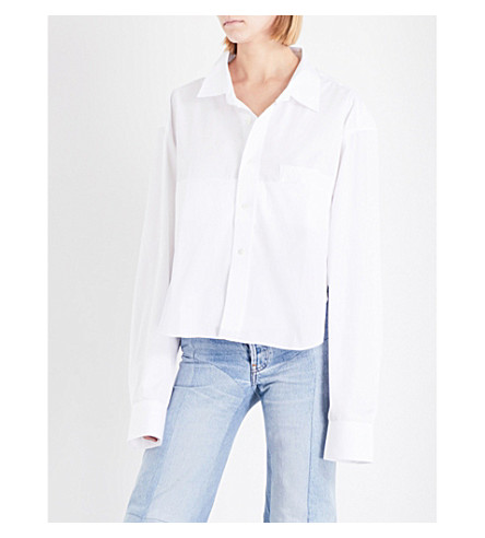VETEMENTS Social Worker cotton-poplin shirt (White