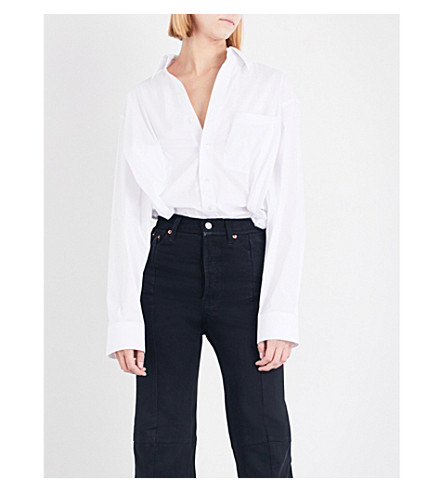VETEMENTS Secretary stretch-cotton shirt (White