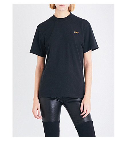 VETEMENTS Entry Level cotton-jersey T-shirt (Black