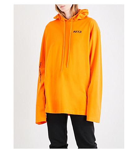 VETEMENTS P.E.T.S cotton-jersey hoody (Orange