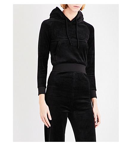 VETEMENTS Velvet hoody (Black