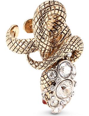 ROBERTO CAVALLI Gold-toned snake ring