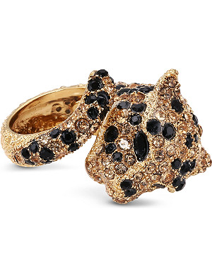 ROBERTO CAVALLI Embellished panther ring